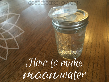 How to make Moon Water (lunar water)