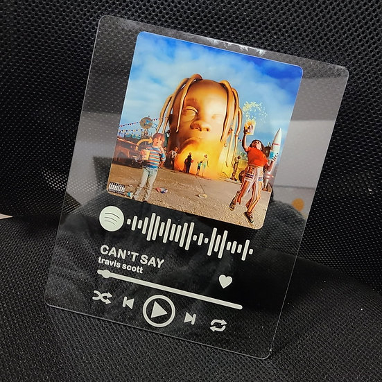 Custom Acrylic  Music Plaque Spotify Glass