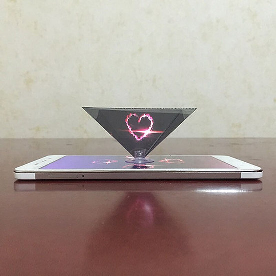 3D Hologram Pyramid Display Projector Video  for Smart Mobile Phone FKU66