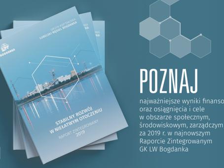 LW Bogdanka publikuje Raport Zintegrowany za 2019 r.