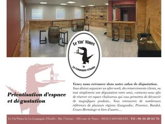 Vin'îmes by la Compagnie d'Emilie sera partenaire à l'Art de Vivre Ligne Roset