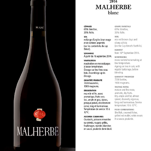 Malherbe - Blanc - 75 cl