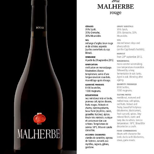 Malherbe - Rouge - 75 cl