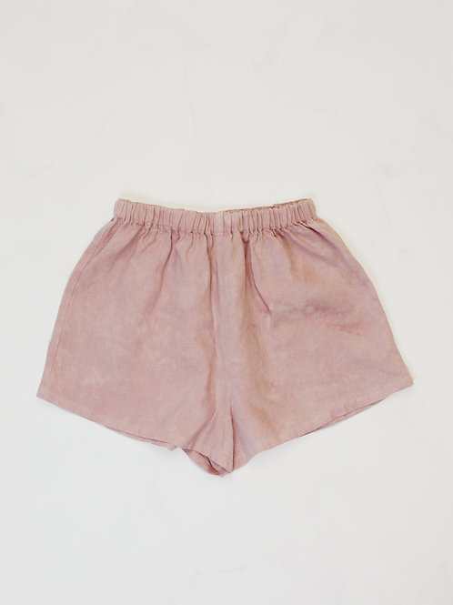 Plant Dyed Linen Shorts