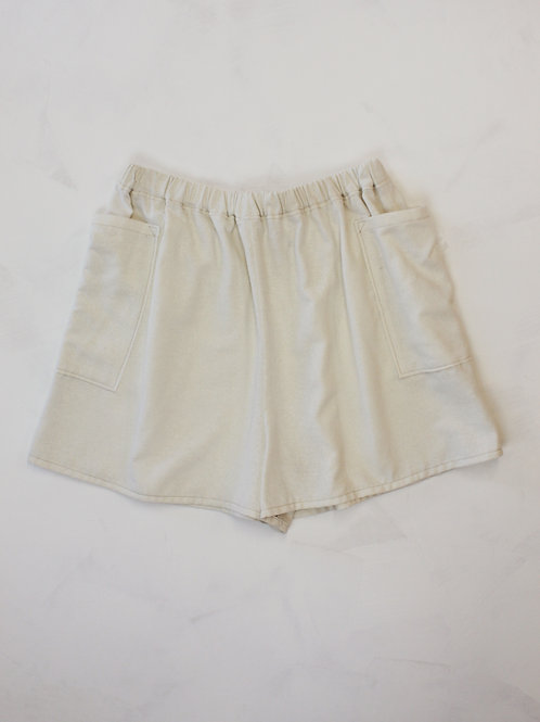 Natural Silk Noil Shorts
