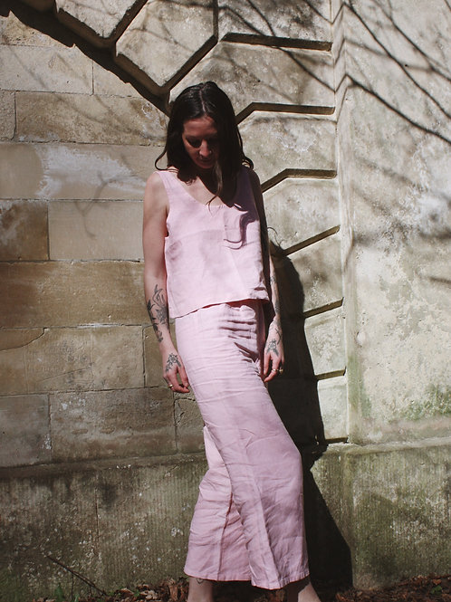 Plant Dyed Linen Trousers