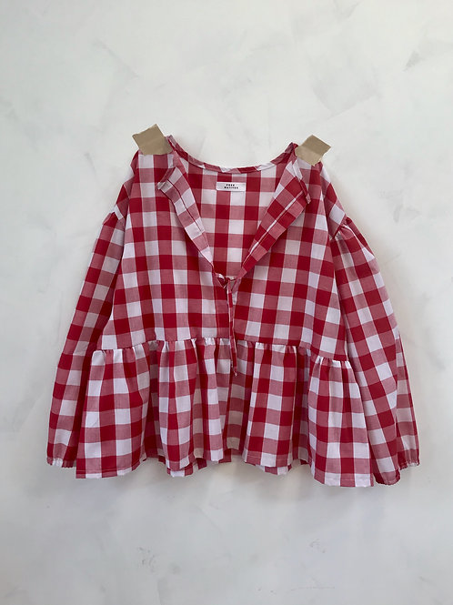 Gingham Cotton Blouse