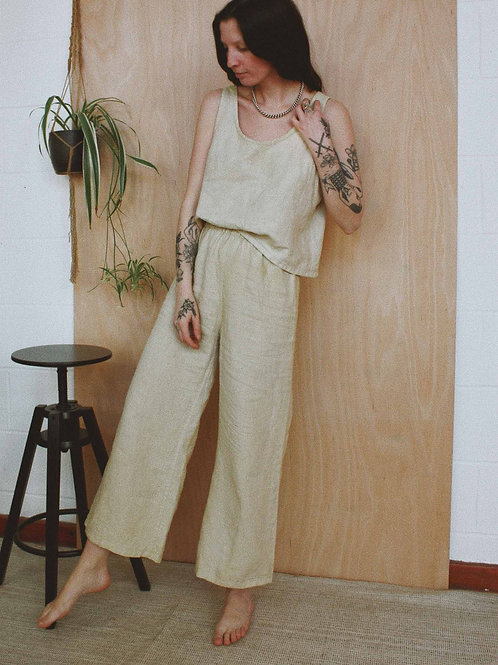 Plant Dyed Linen Cami