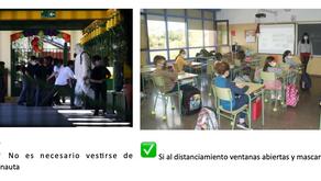 MITOS Y VERDADES SOBRE PROTOCOLOS DE SANITARIOS PARA ESCUELAS Y CENTROS EDUCACIONALES