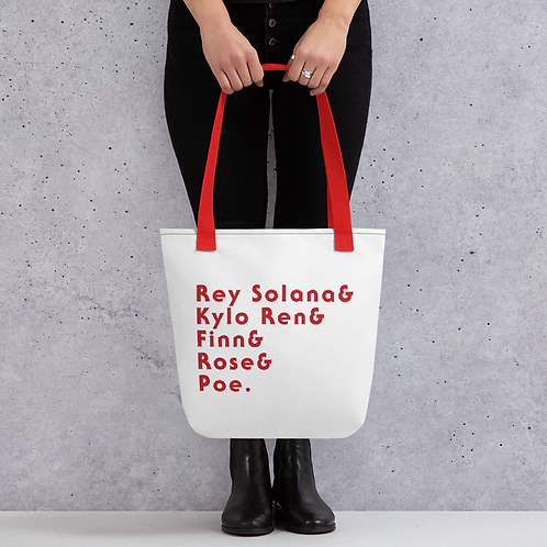 Team Duel of the Fates Red Tote Bag