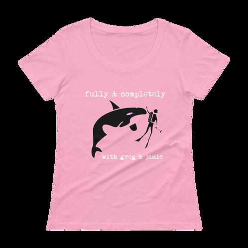 Ladies' Scoopneck Killer Whale Tank T-Shirt