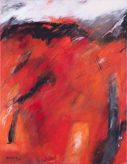 Wogendes Rot (Diptychon)