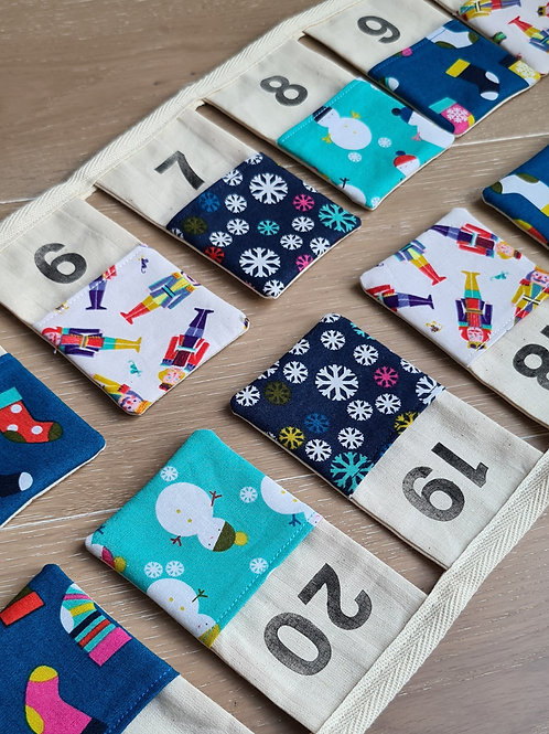 Advent Calender Bunting - Blue & Mint