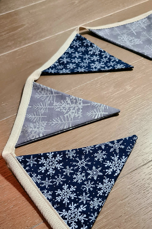 Bunting - Silver & Blue