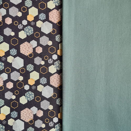 The Roll - Turquoise Hexagons