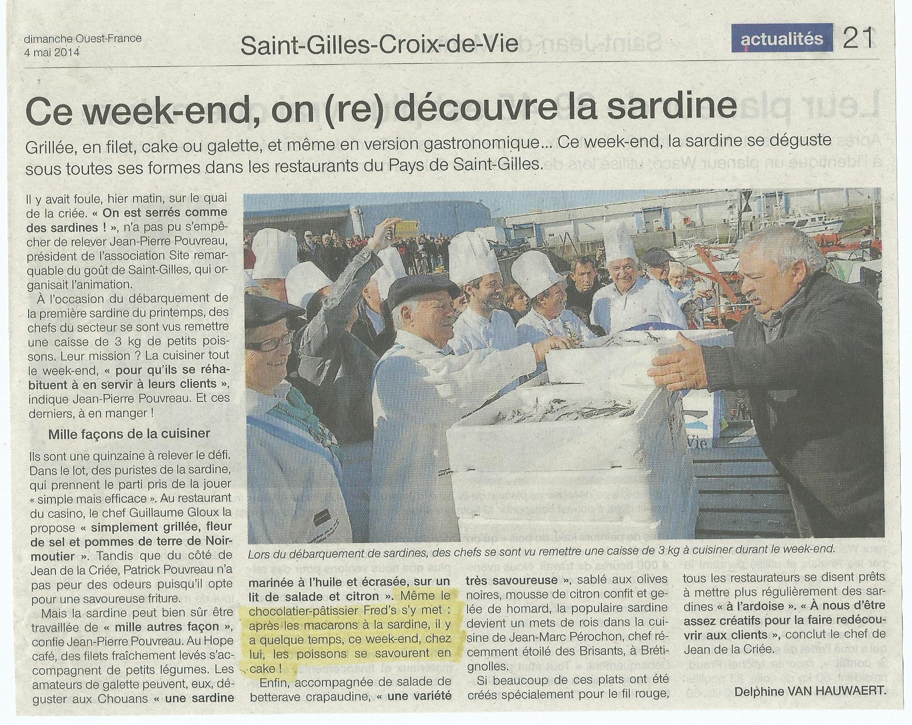 Ouest France mai 2014.jpg