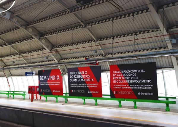 Painéis Santander Comunicação Visual