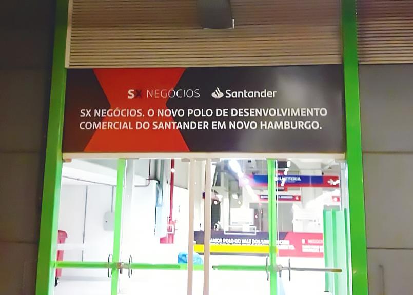 Testeira Santander Comunicação Visual