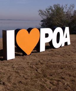 Ação I love Poa - Comunicação Visual