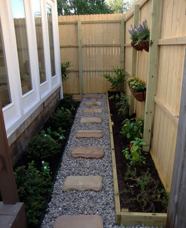 Walkway and garden