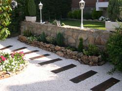 Walkway and garden