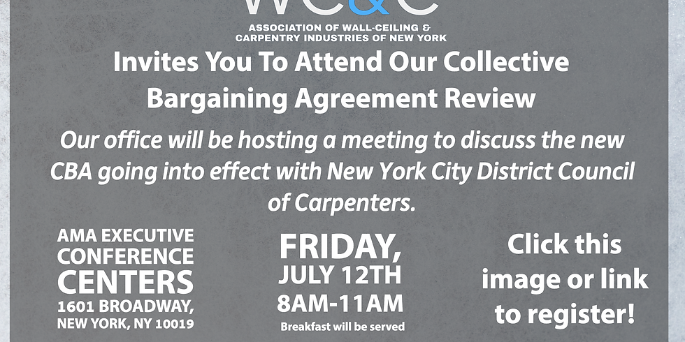 New Collective Bargaining Agreement