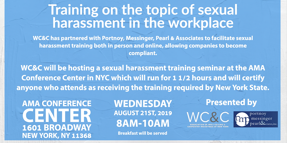 Sexual Harassment Sensitivity Training NYC