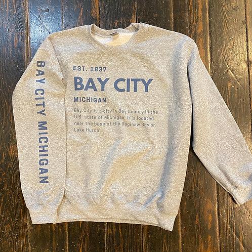 Est. 1837 Bay City Michigan Sweatshirt