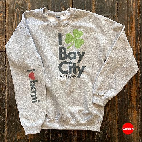 Irish Heart Bay City Michigan Sweatshirt