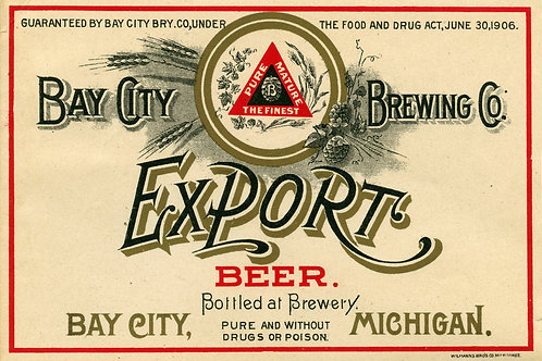 Export Beer Bay City Brewing Company