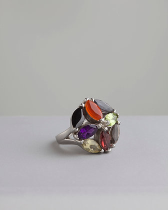 Anel Pedras Coloridas