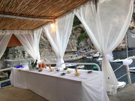 Buffet table matrimonio