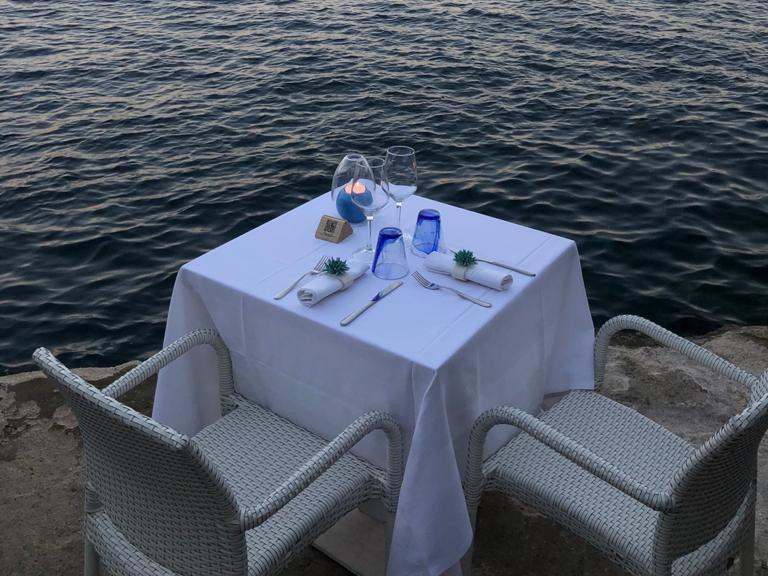 Cena romantica il pirata costiera amalfitana