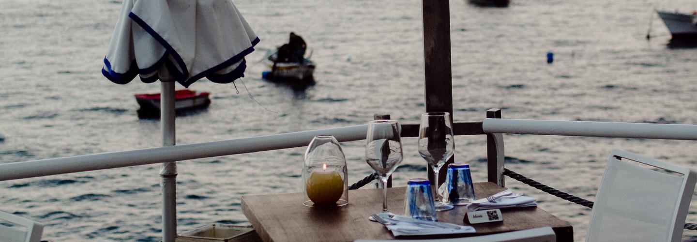 cena romantica il pirata costa d'amalfi
