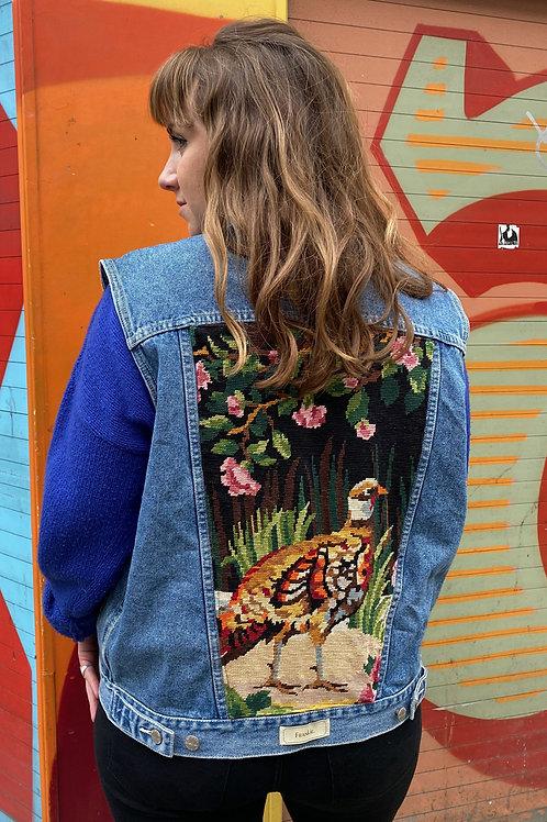 Sleeveless Jacket Wild bird
