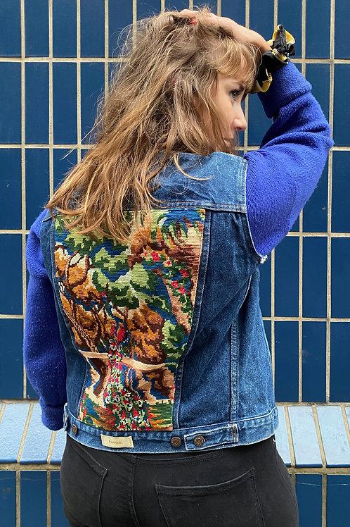 Sleeveless Jacket Peacock
