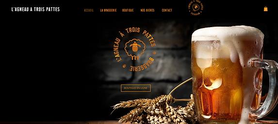 Homepage Site Brasserie ATP - graphisme par zeko design