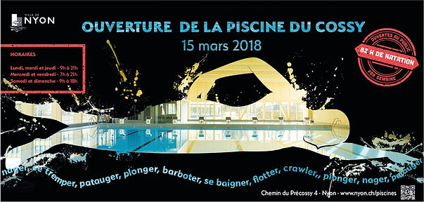 Affiche F12 Piscine Cossy - graphisme par Zeko Design