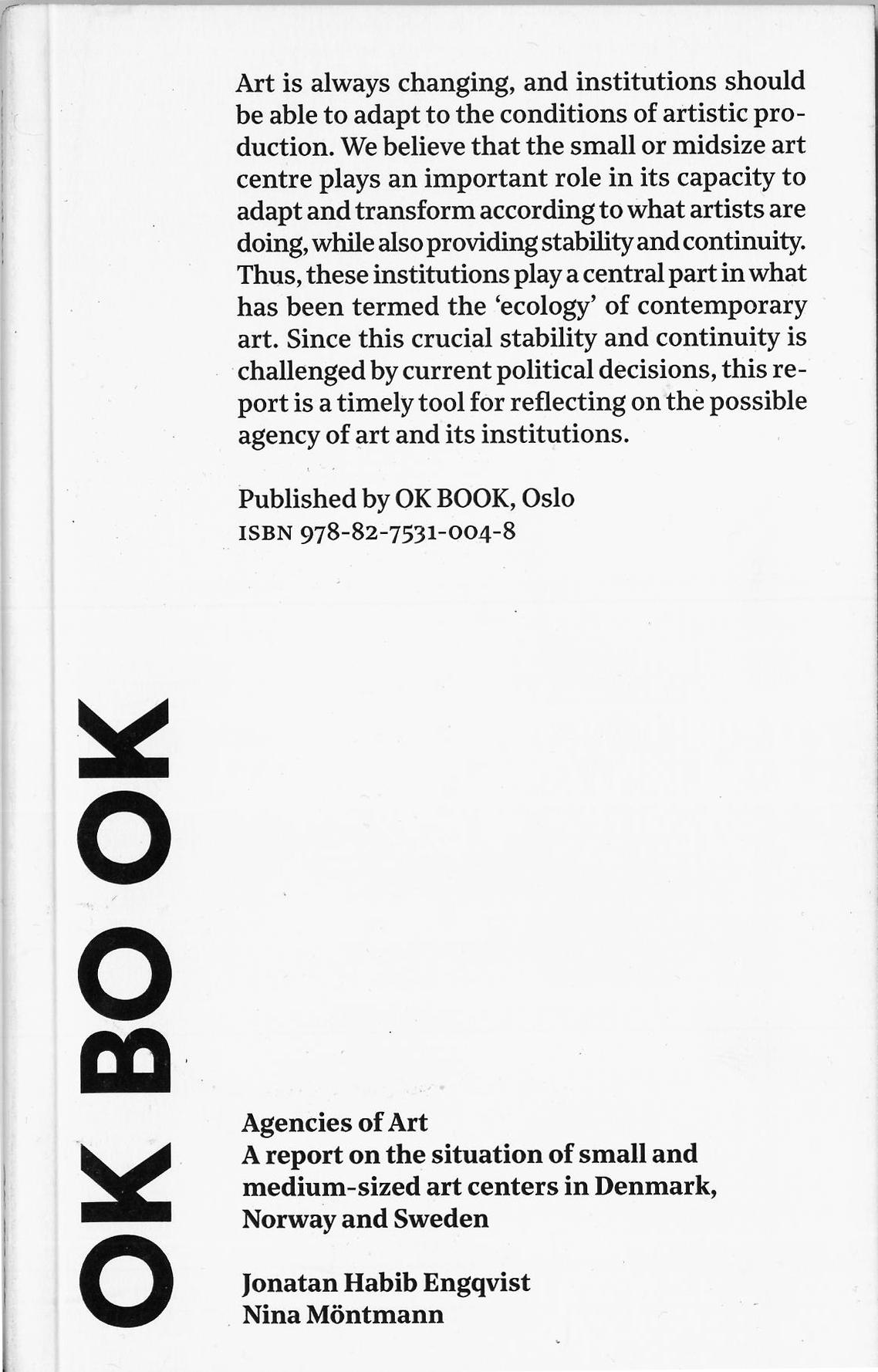 OK BOOK Agencies of Art