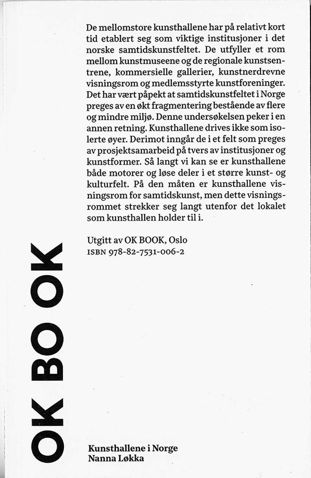 OK BOOK Kunsthallene I Norge