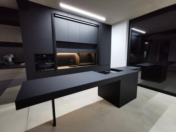 Küche, Fenix, NTM, Nero Ingo, Schwarz matt, Design, Bad Neuenahr