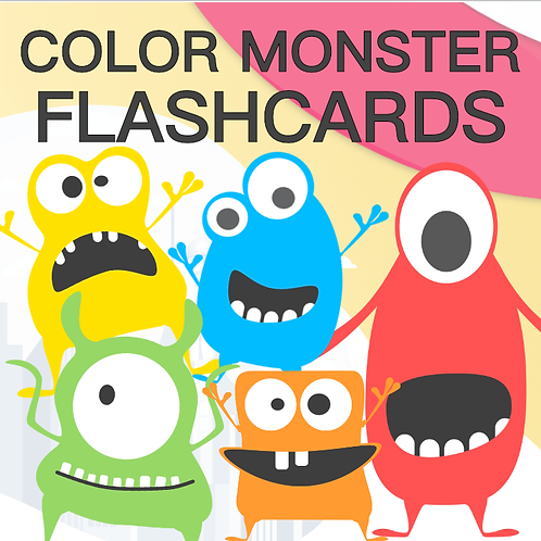 Color Monster Flashcards