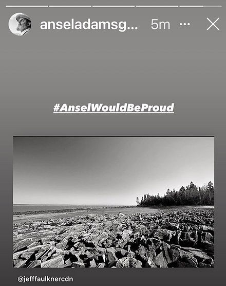 Ansel Adams Gallery Shared my B&W Photography with Adams' Famous Moonrise Photo!