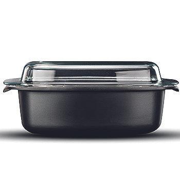 רוסטר עם מכסה זכוכית BLACK MARBLE 9.3 ליטר עם מכסה זכוכית