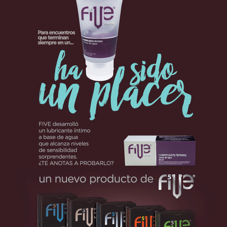 FIVE LUBE package design by AKA imagine