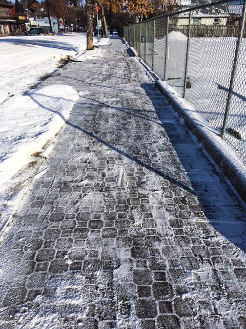 cleared sidewalk