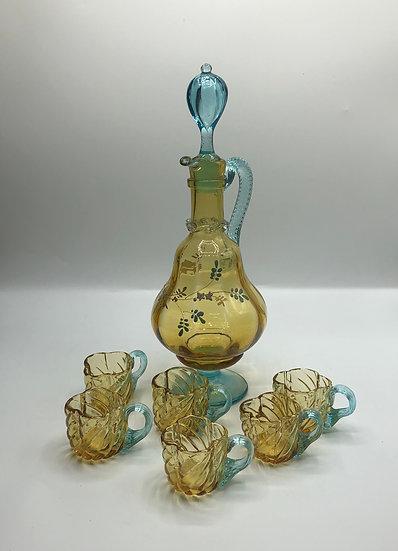 Victorian Italian Murano Glass Decanter