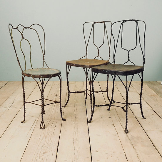 Twisted Iron Chairs