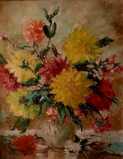 Floral Oil on Board