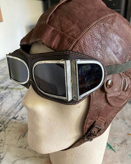 Flying Helmet with Goggles
